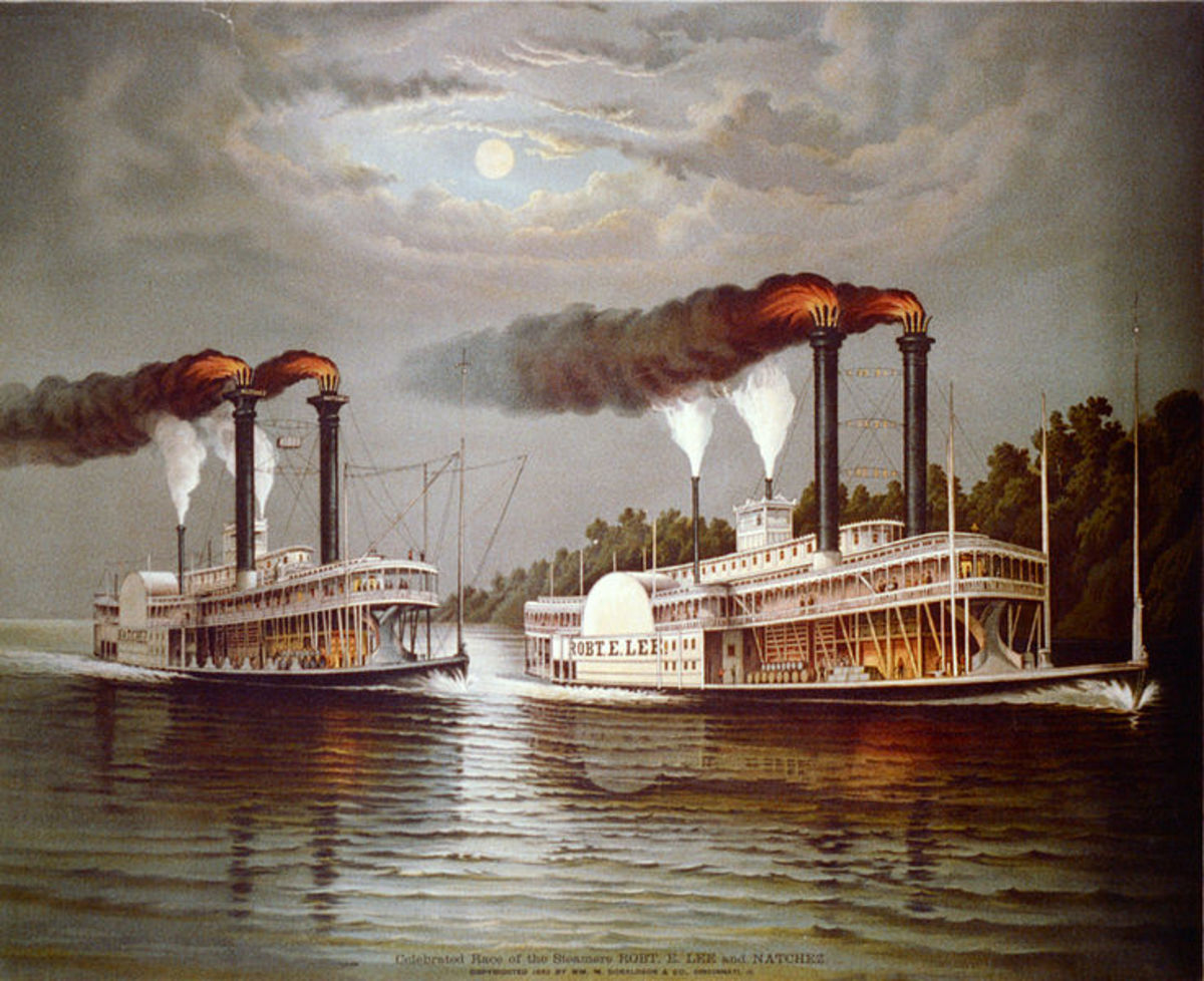 The Mississippi Steamboat Race of 1870