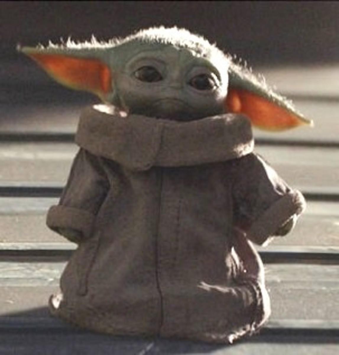 Baby Yoda, or Grogu, from The Mandalorian.