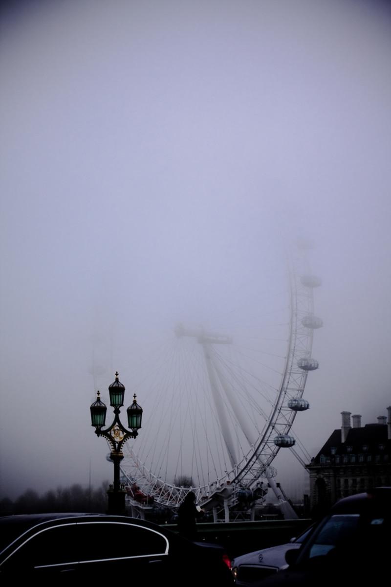 Fog by the London Eye