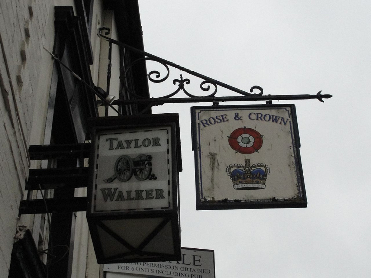 painted pub signs