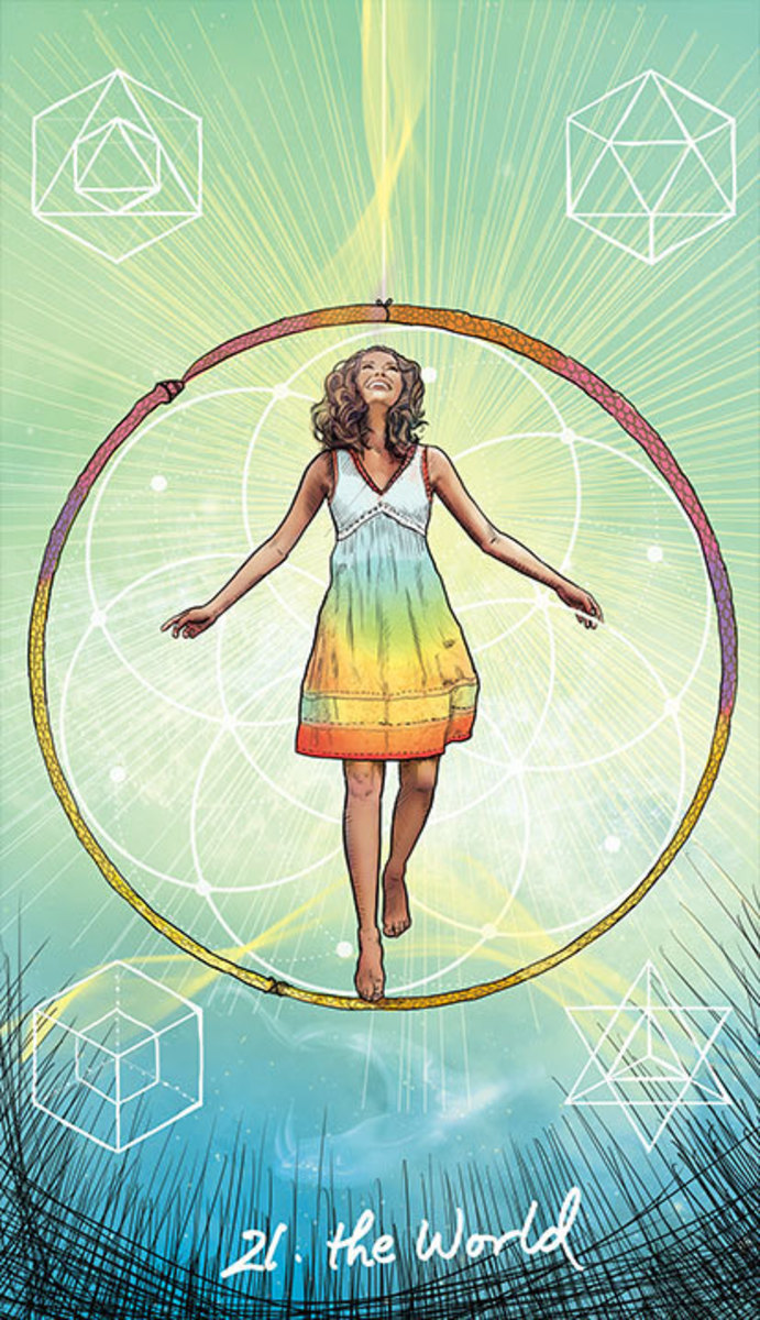 The World is about self-actualization. You have matured in all areas that correspond to the four elements.