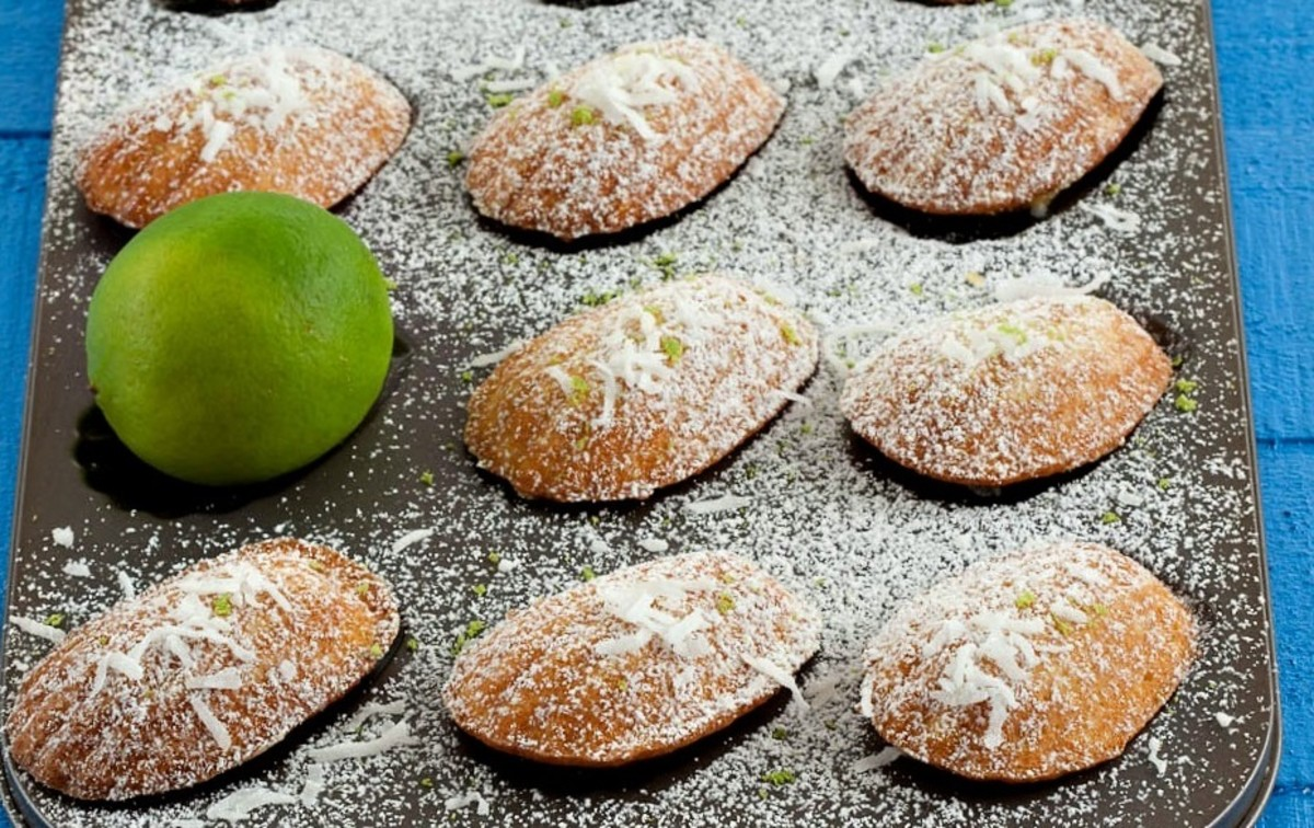 Lime and coconut madeileines