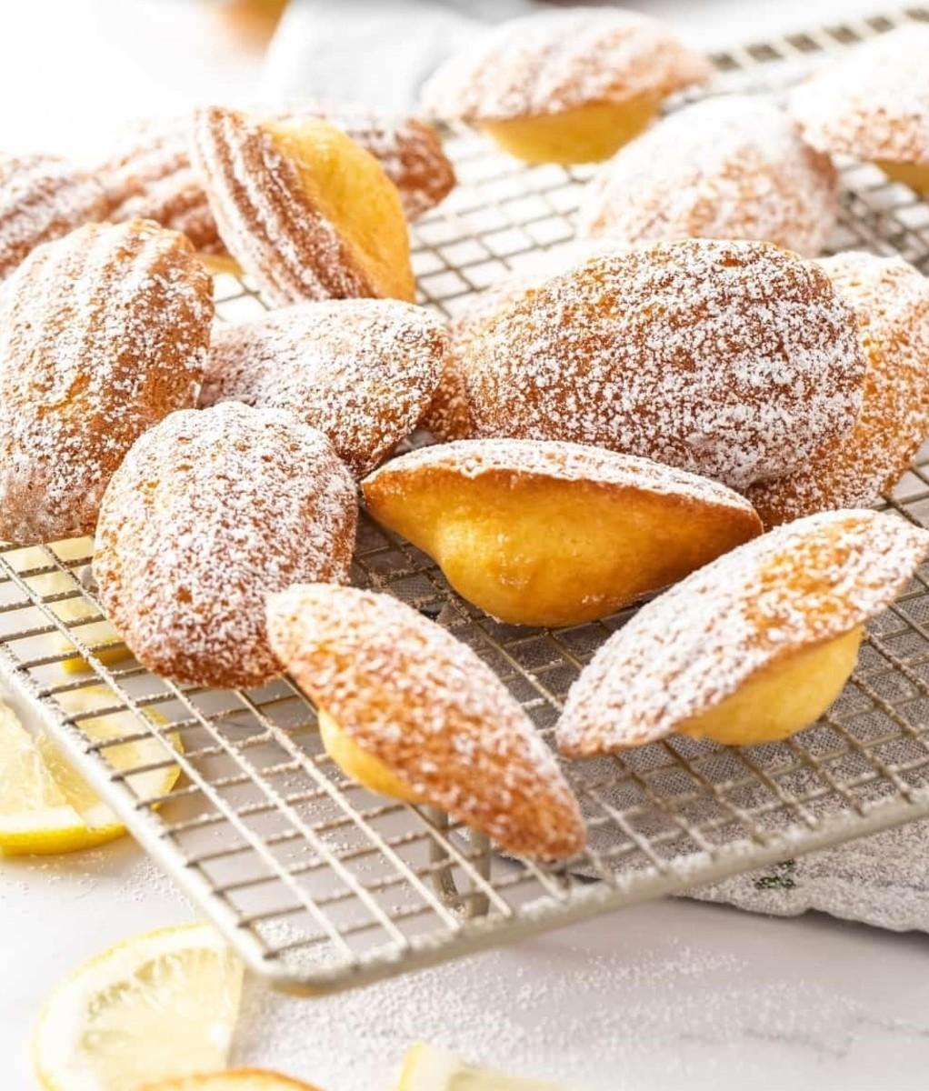 Gluten-free lemon madeleines