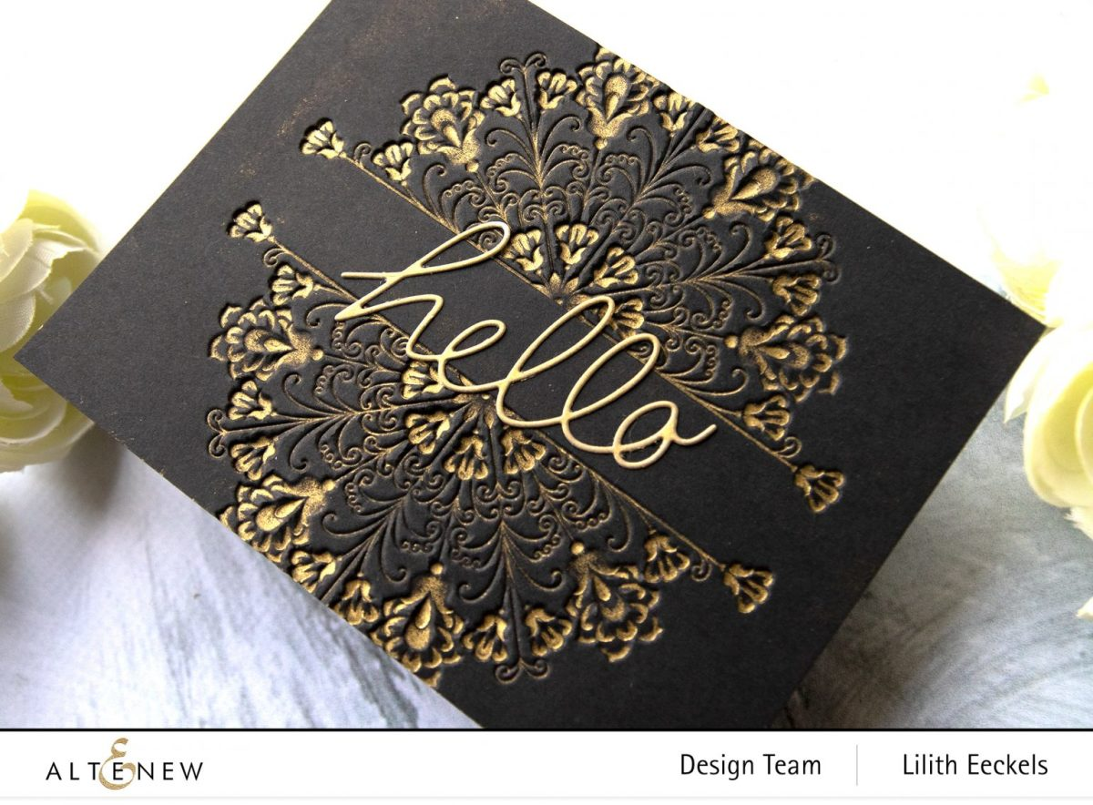 You can use bioth the embossed and debossed side of your embossing folder.