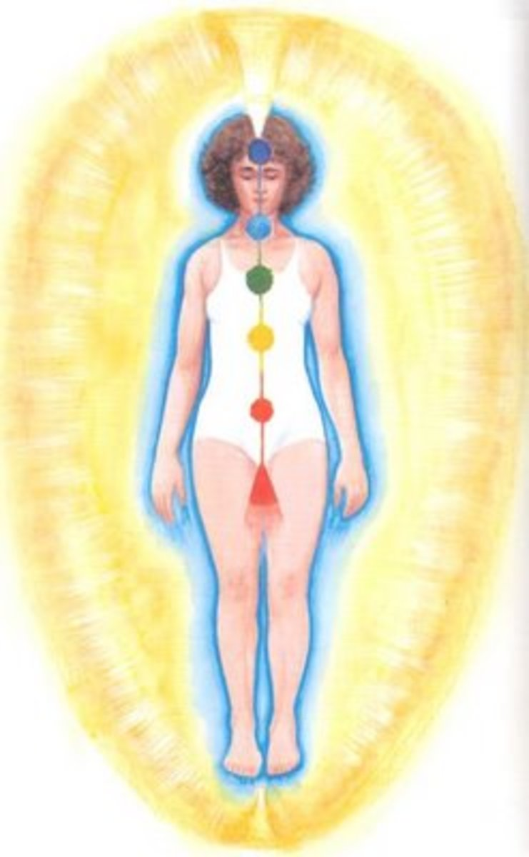 The chakras function as intake organs for energy from the universal life energy field, which we can also call the universal health field all around us.