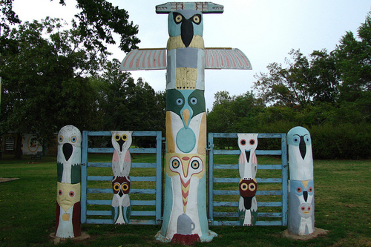 Totem Pole Park; A Tribute to American Indian History: Another Ornate Gate Found at the Park.