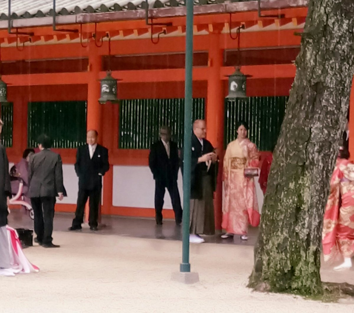 Sneaked upon a Japanese Wedding Ceremony