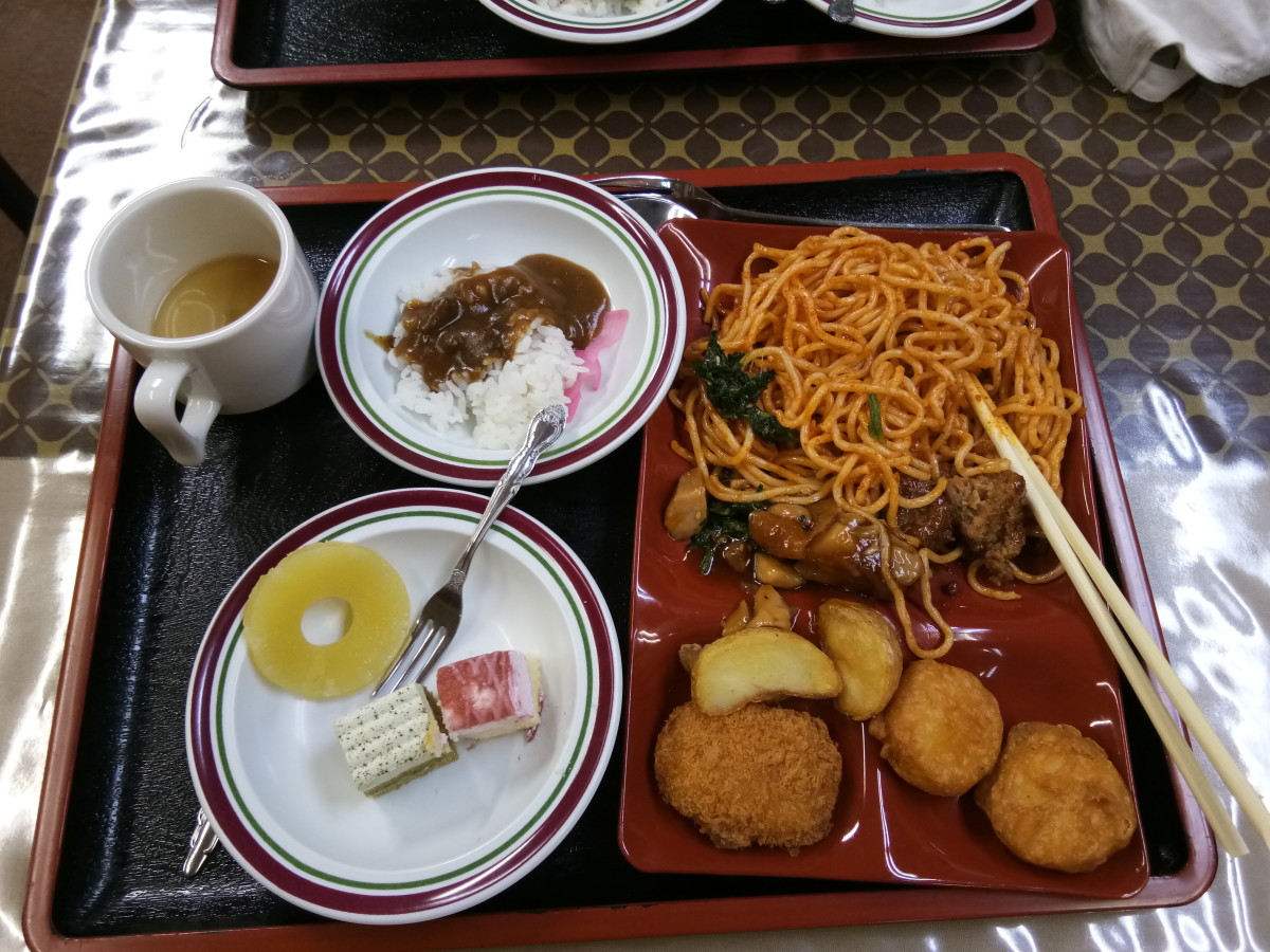 Some more Japanese food, washed down with some green tea