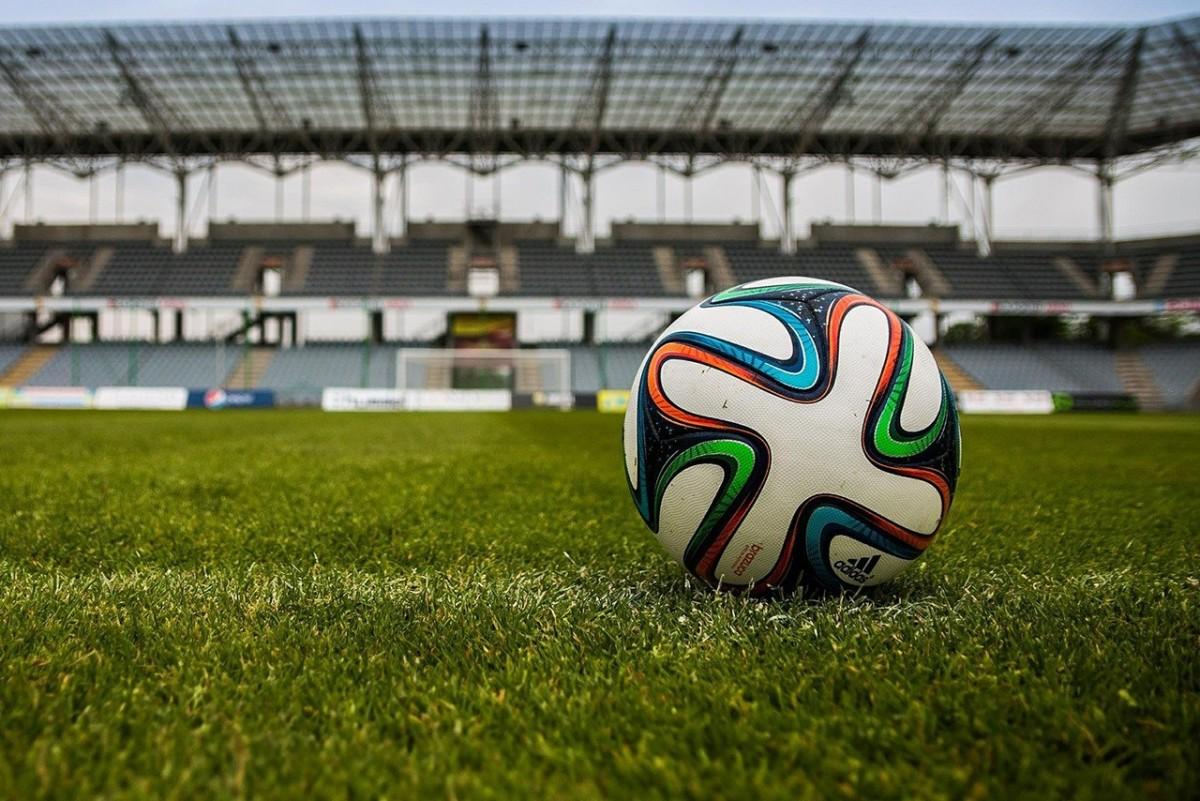A football before a match.
