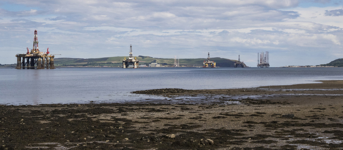 Cromarty Firth (the Oil Rig Graveyard)