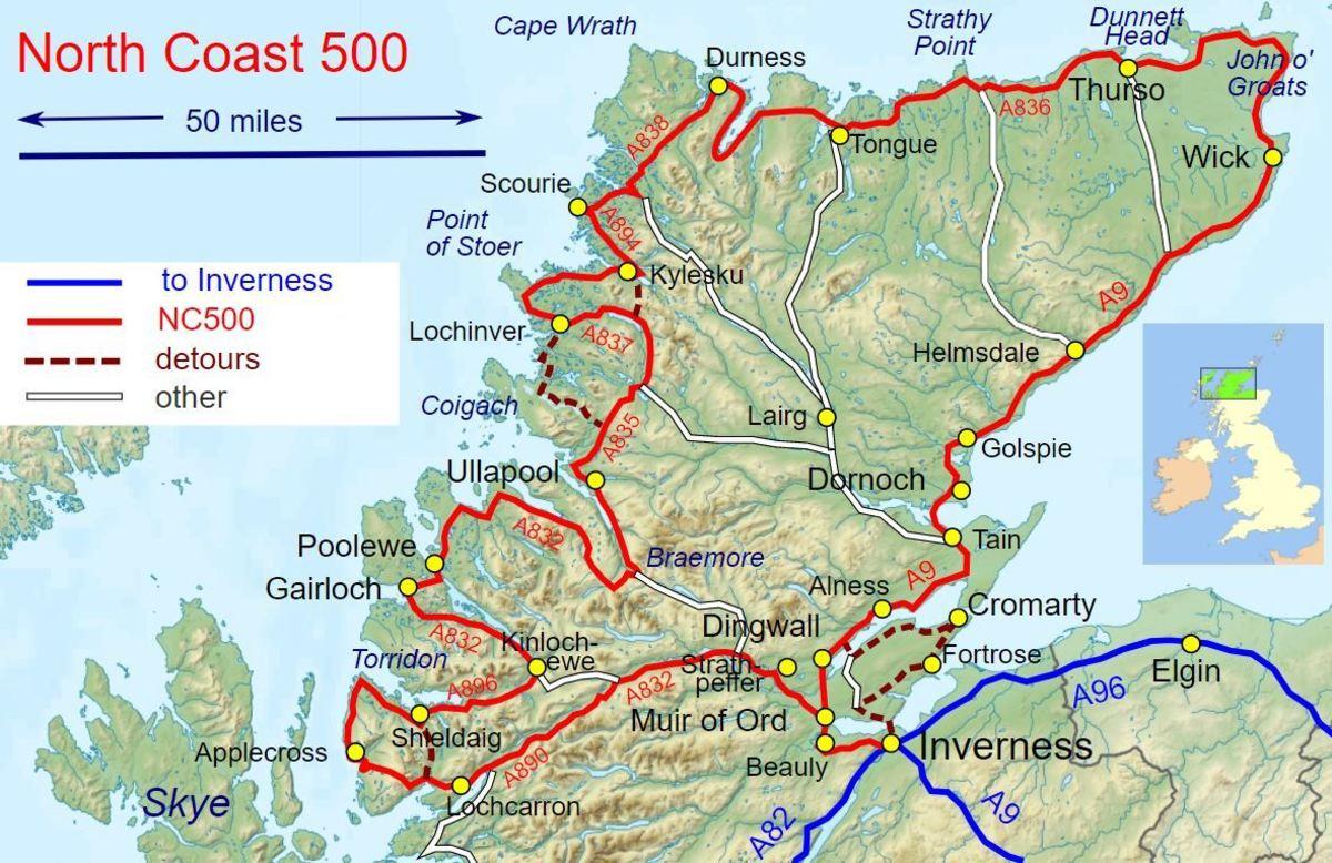 Highlights of Scotland's NC500