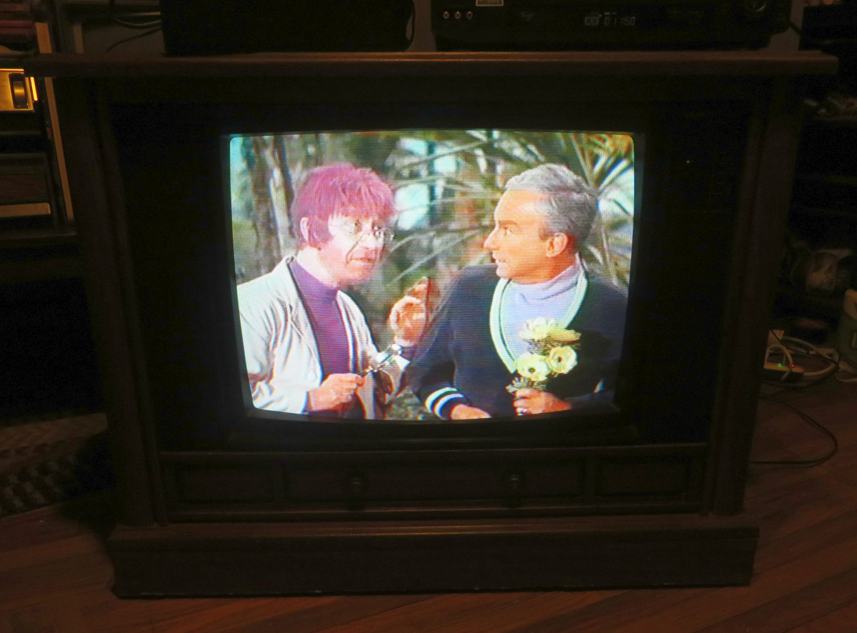 Willoughby and Doctor Smith Looking Good on the Crosley Television CC2546-P102. Lost in Space (TV Series) Episode: The Great Vegetable Rebellion (1968)