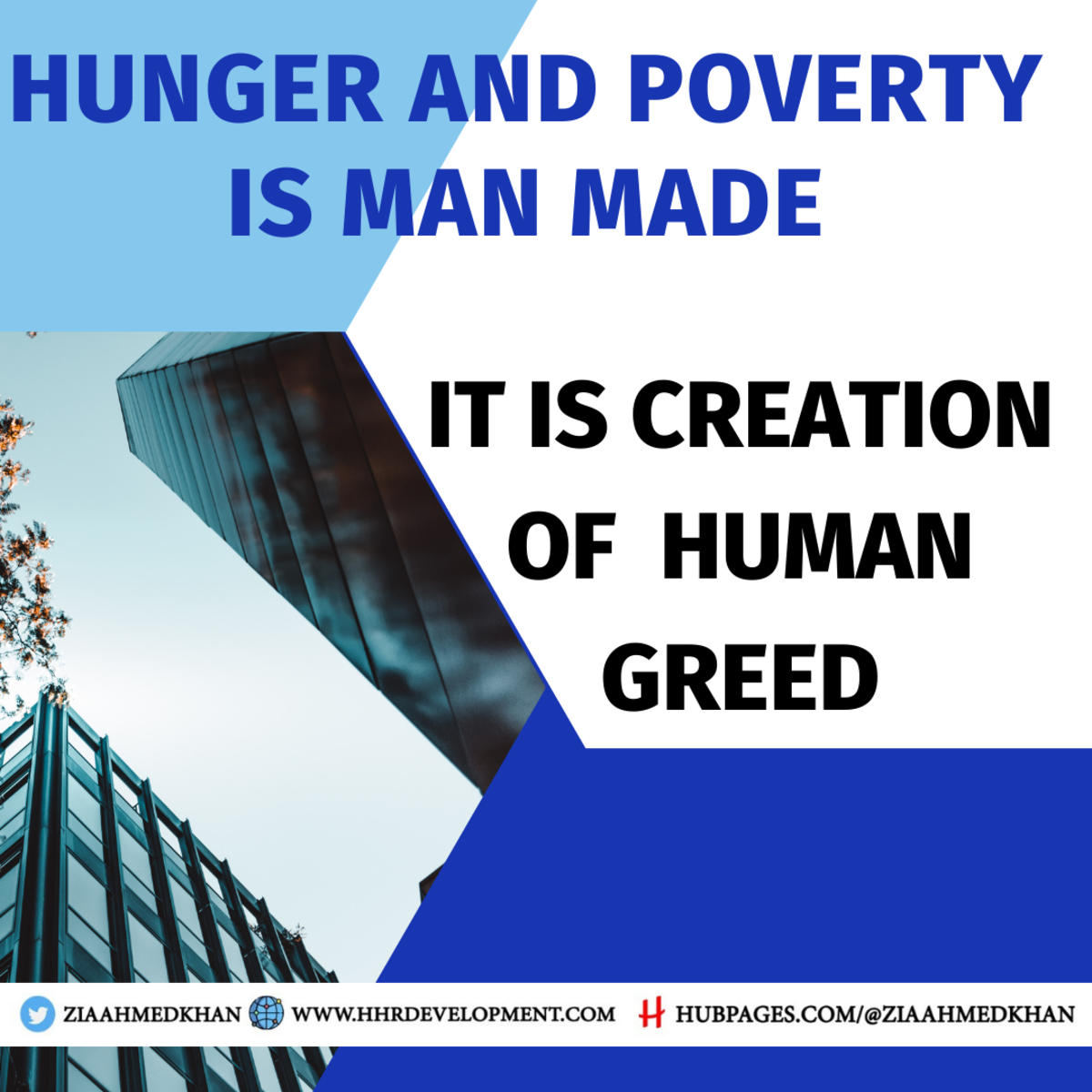 Hunger and Poverty is Man  Man Made