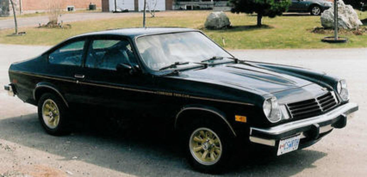 A restored Cosworth vega