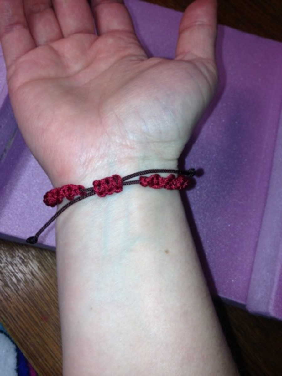 This is what the bracelet looks like under the wrist.