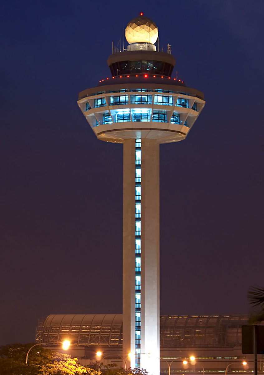 The iconic control tower of Changi Airport is a beacon that welcomes international visitors to Singapore.