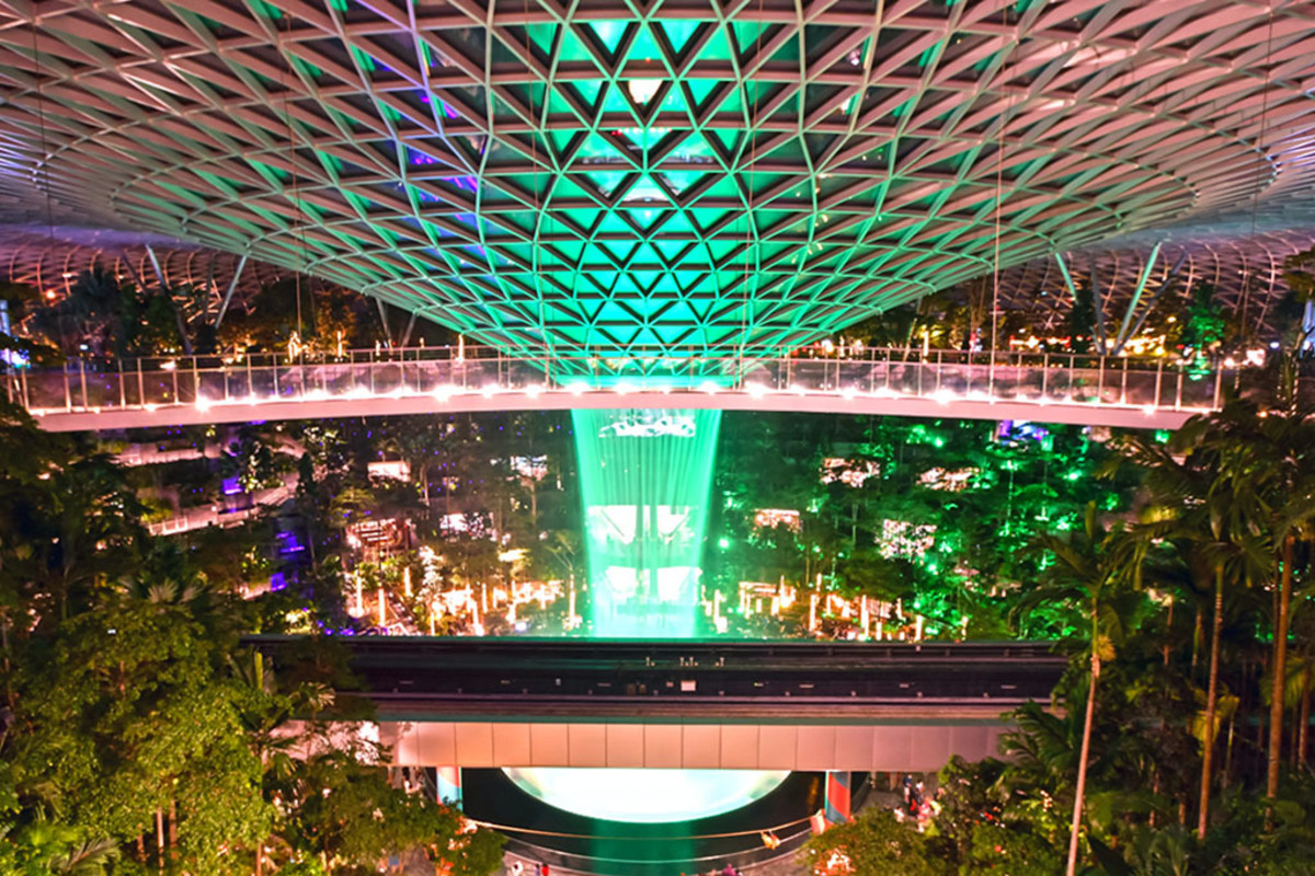 Jewel Changi Airport breathtakingly showcases Singapore's reputation as a tropical garden city.