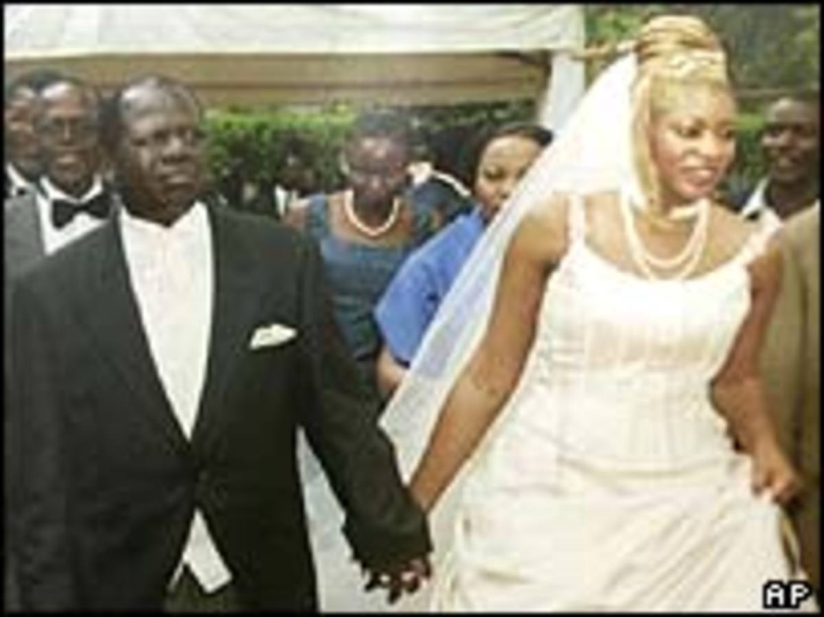 Wamalwa with Yvonne Nambia at their wedding.