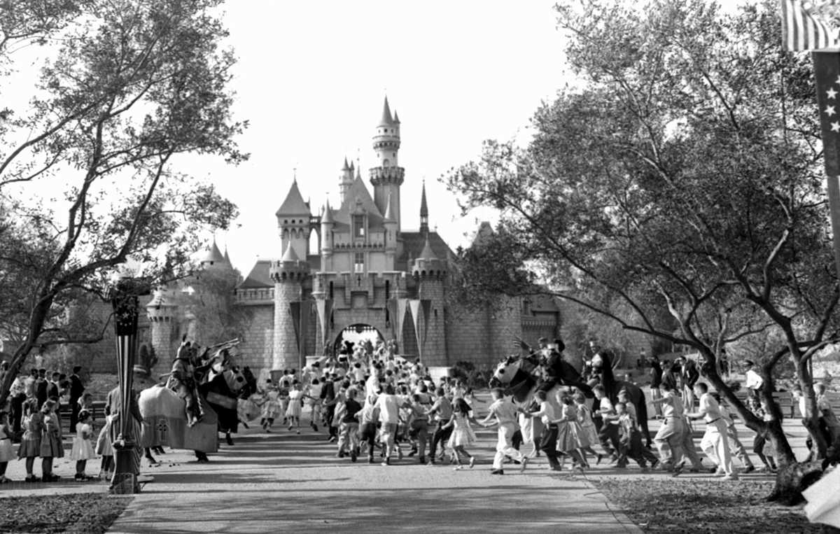 """On July 17, 1955, Disneyland opened in Anaheim, California. History.com tells us that """"the $17 million theme park was built on 160 acres of former orange groves, and soon brought in staggering profits."""""""