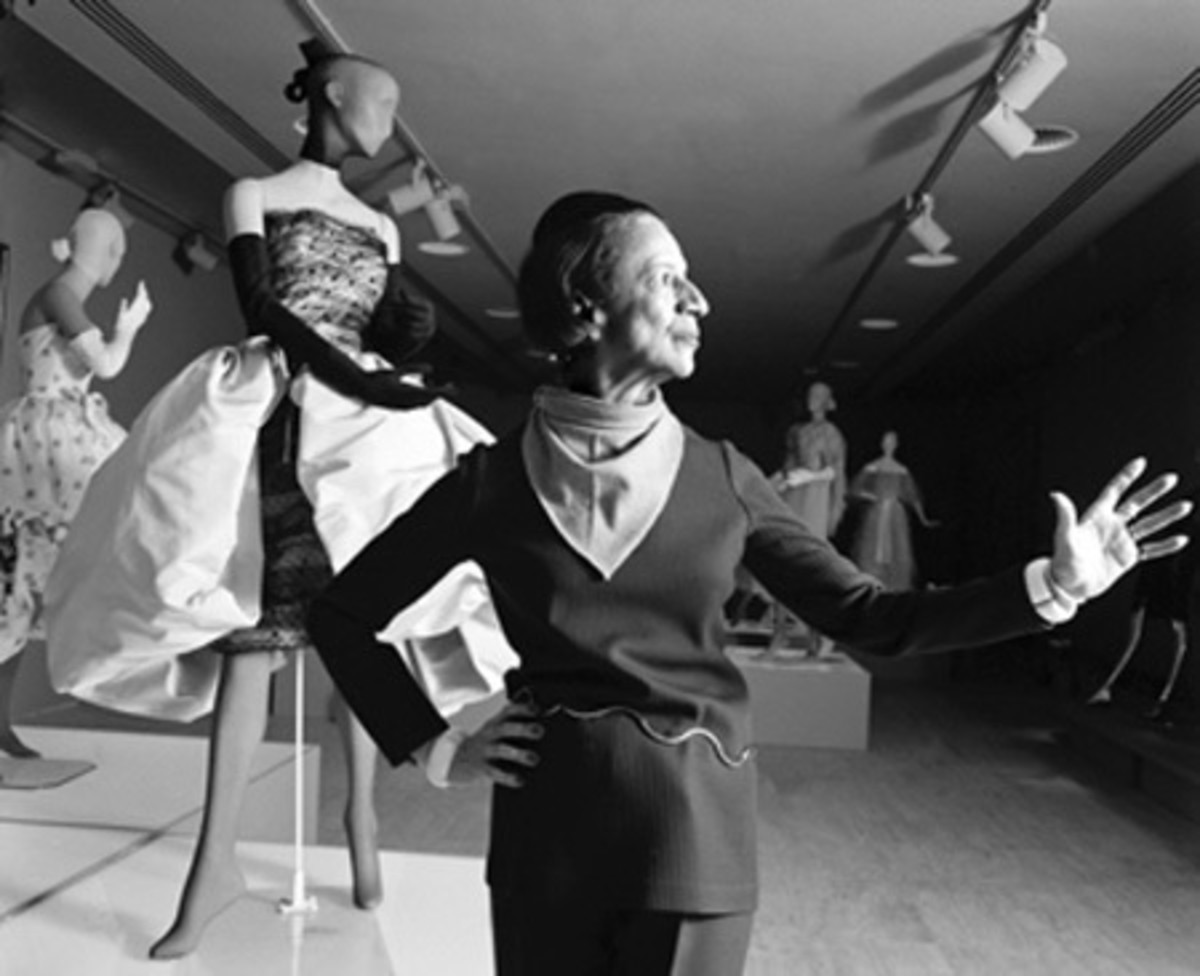Vreeland with one of the exhibits she curated for the Costume Institute in 1973
