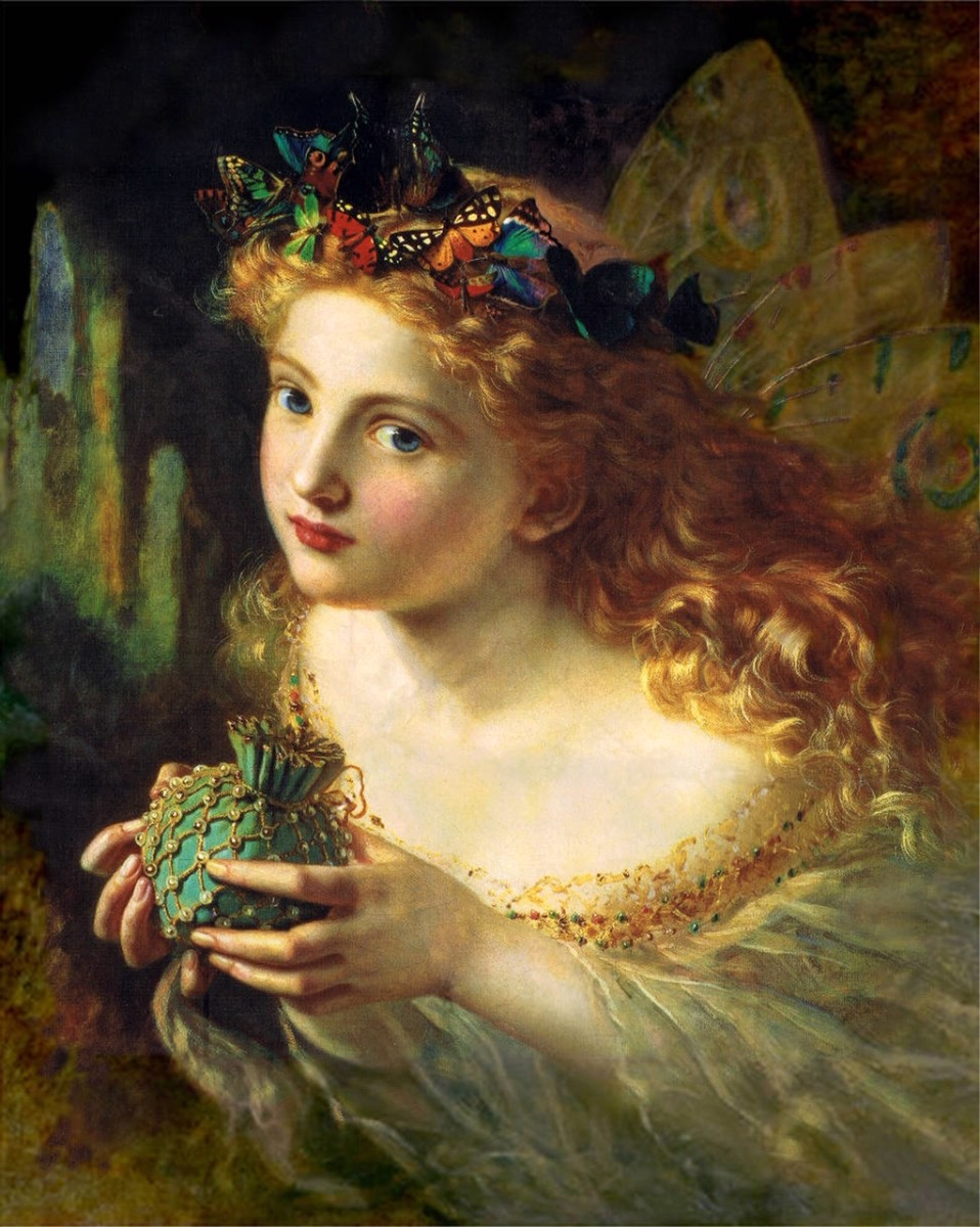 """A Portrait of a Fairy"" Sophie Gengembre Anderson (1869)."