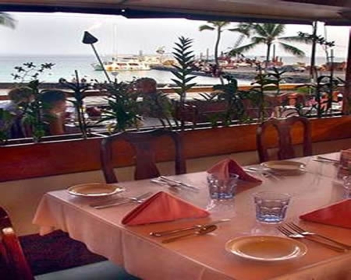 View of Kona Bay from the Old Kona Galley Restaurant