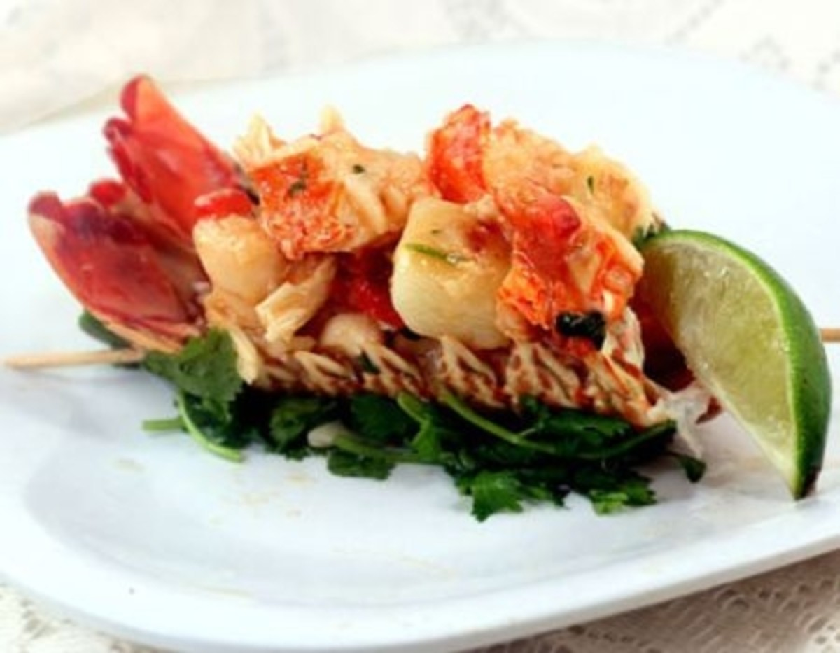 Thai Chili Lobster Potato Salad