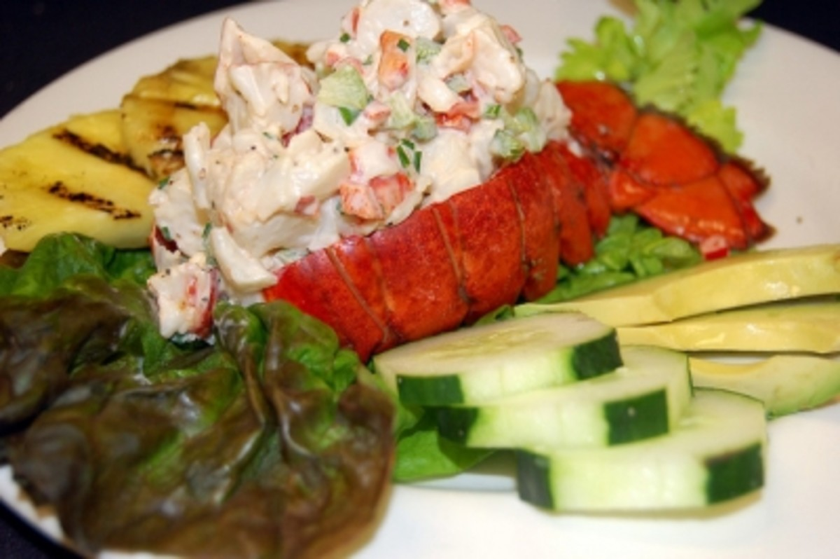 lobster salad with pineapple