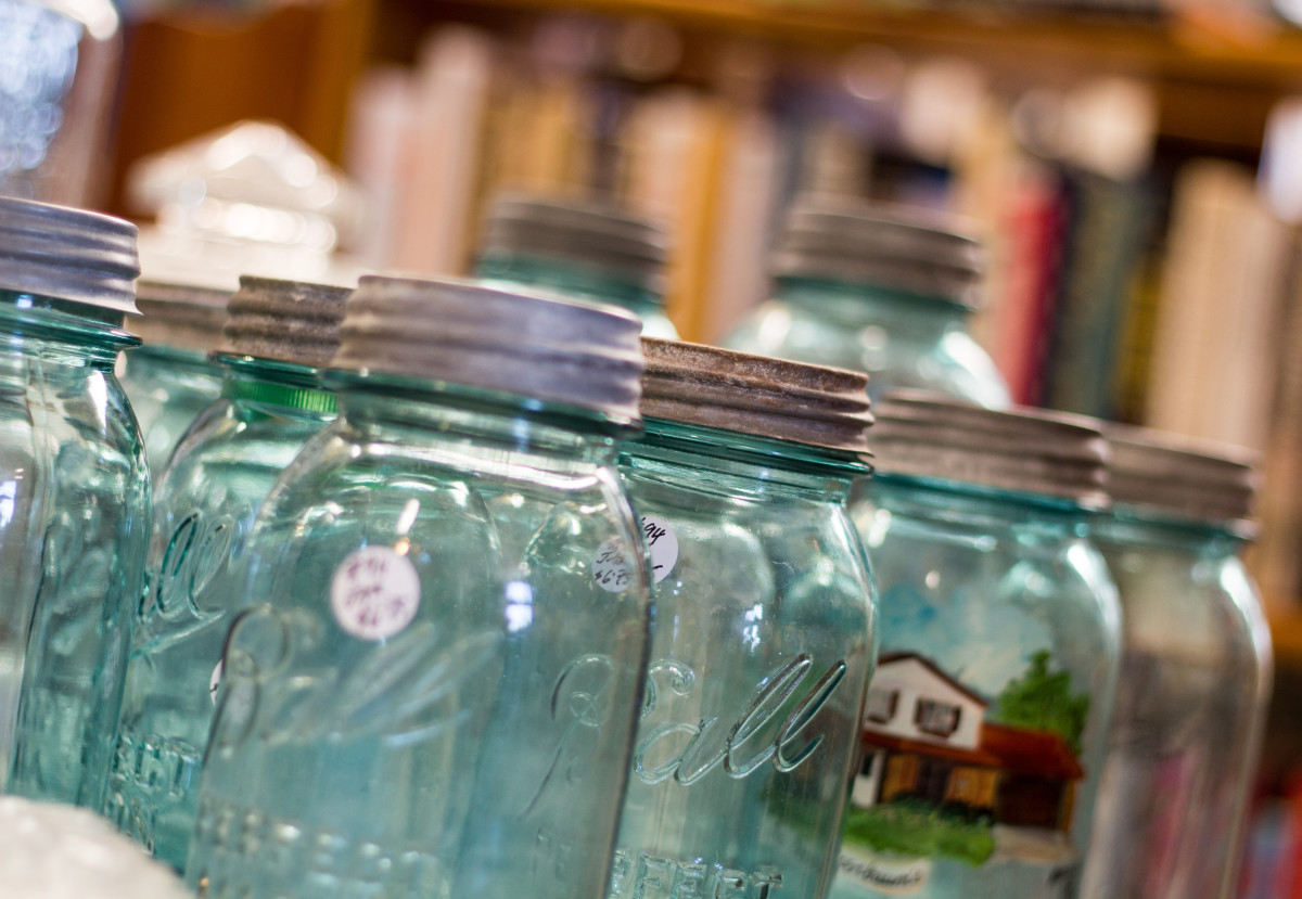 Think about finding a unique / vintage mason jar for your gift.