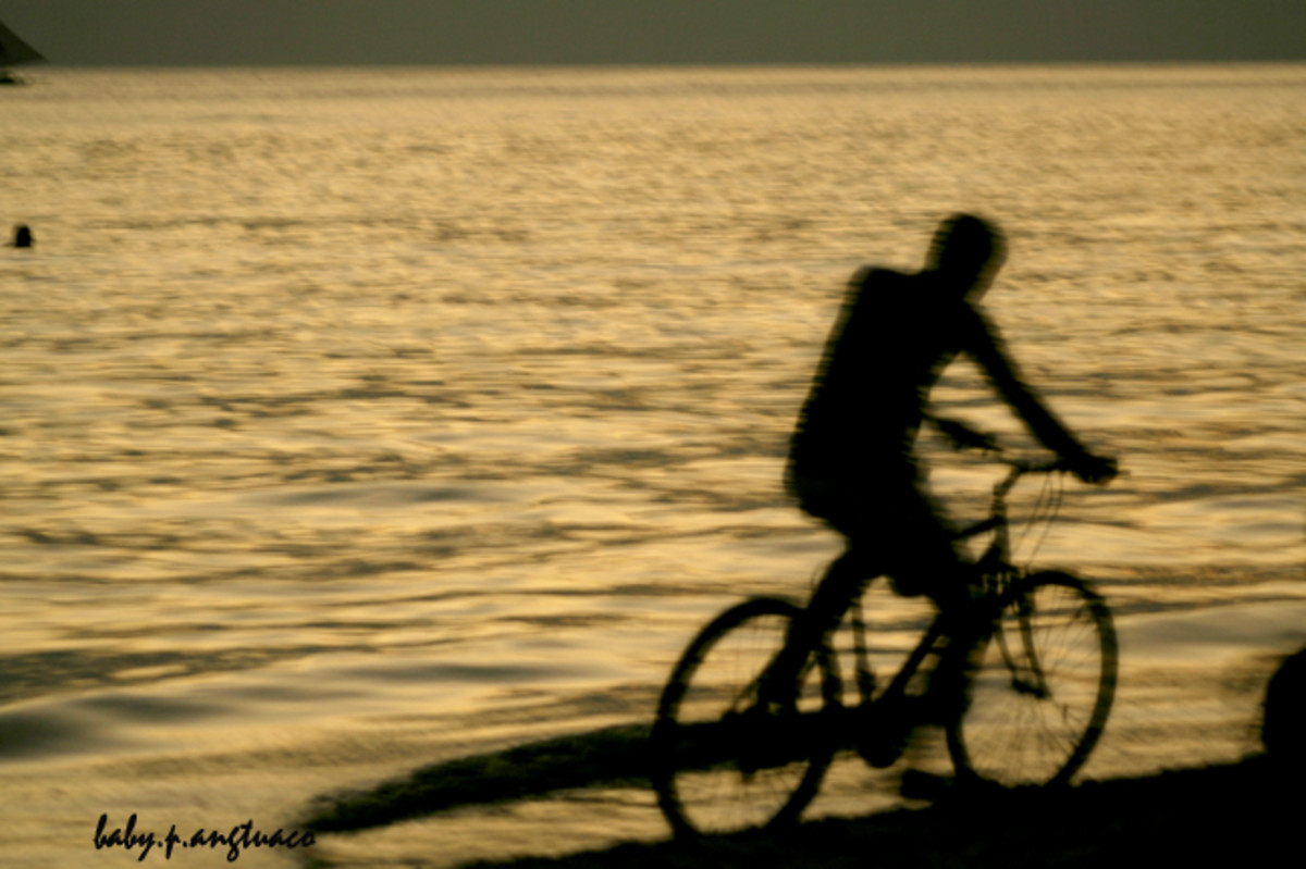 Cycling on the beach? Wow!