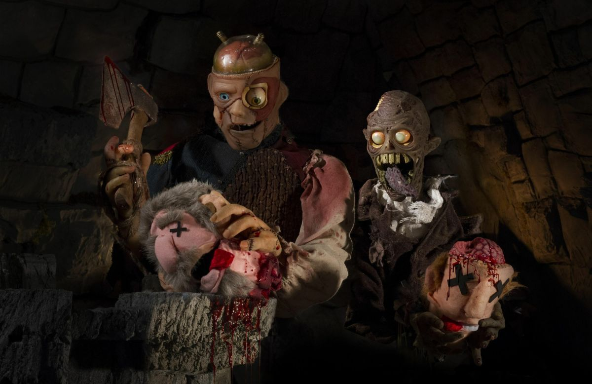 """From the bloody, puppet film, """"Frank & Zed."""""""