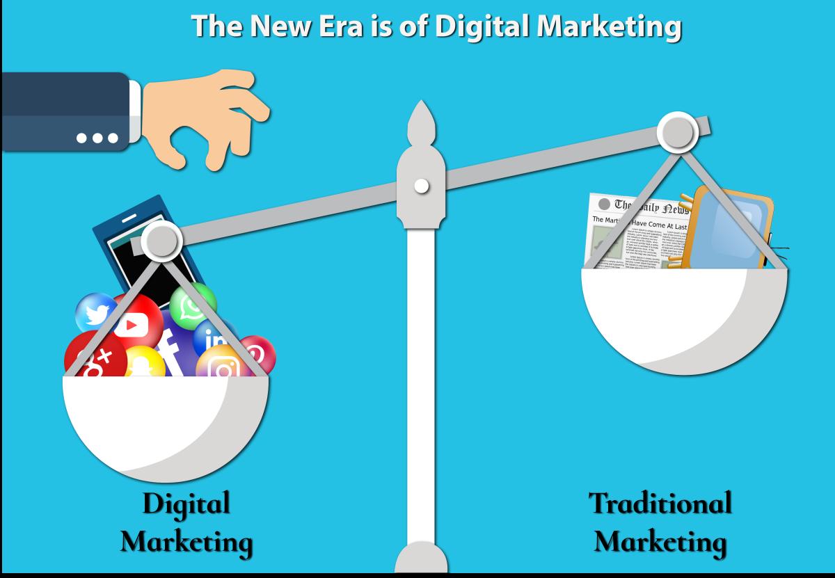 Digital Marketing Vs Traditional Marketing Style.