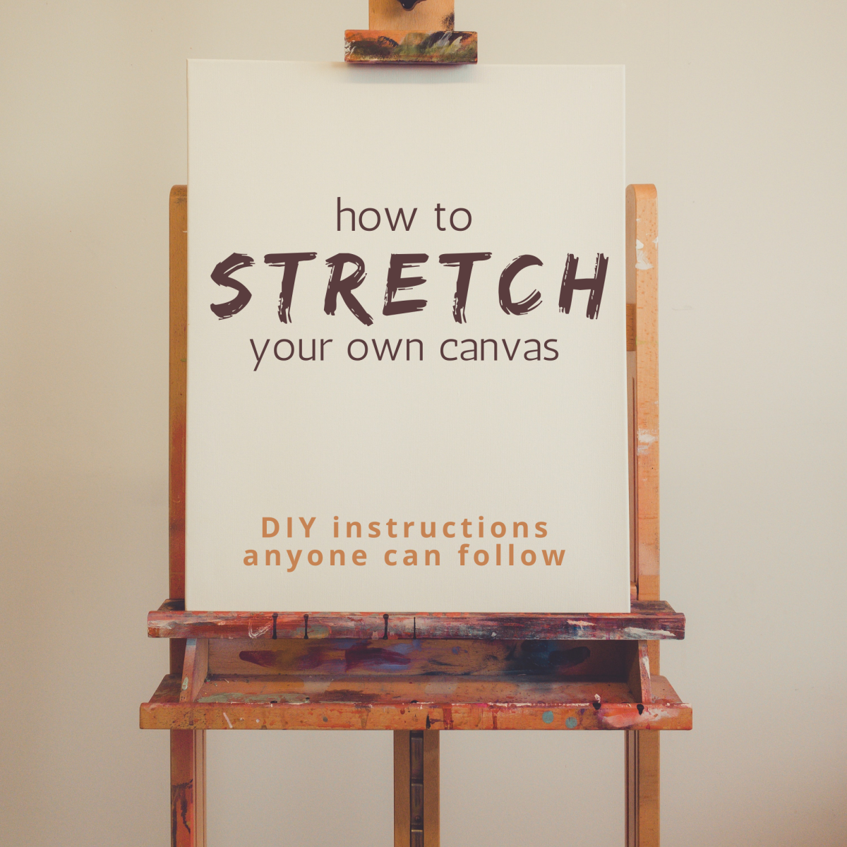 How to stretch your own canvas on a frame.