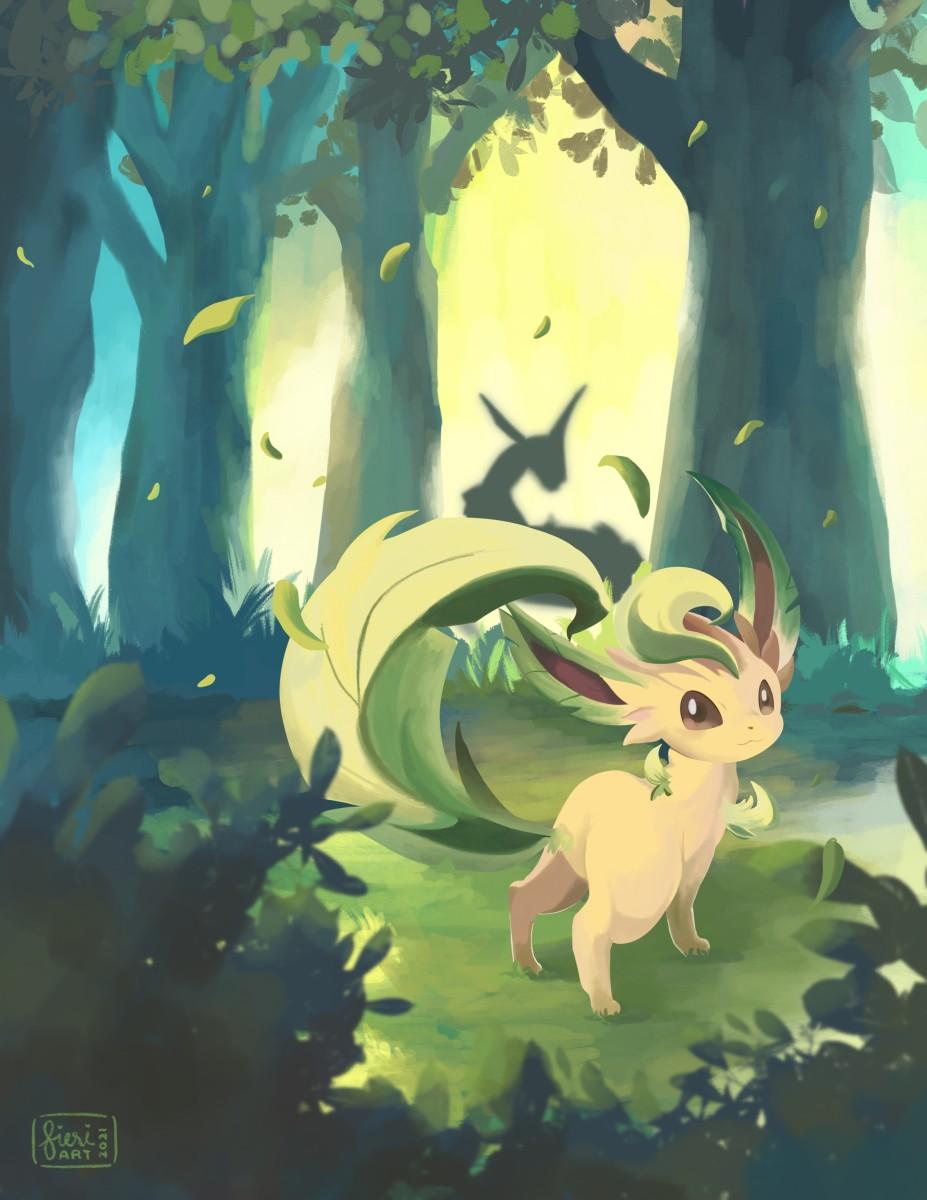 Leafeon and Rayquaza - Evolving Skies - Pokemon