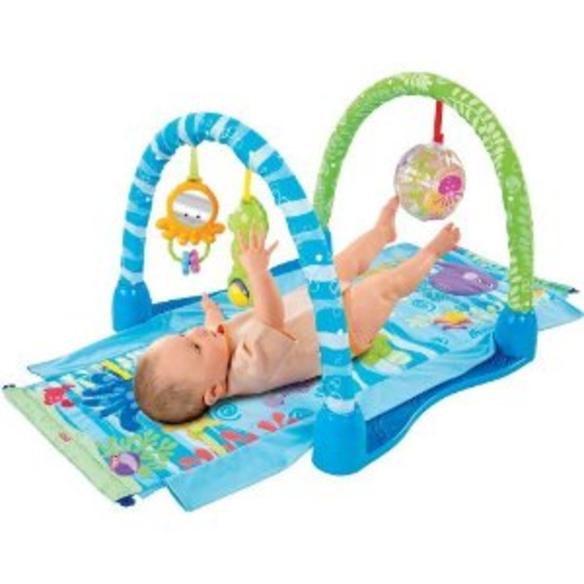 Fisher Price Kick Gym and Kick and Play Piano, Great First Baby Lay Down Toys