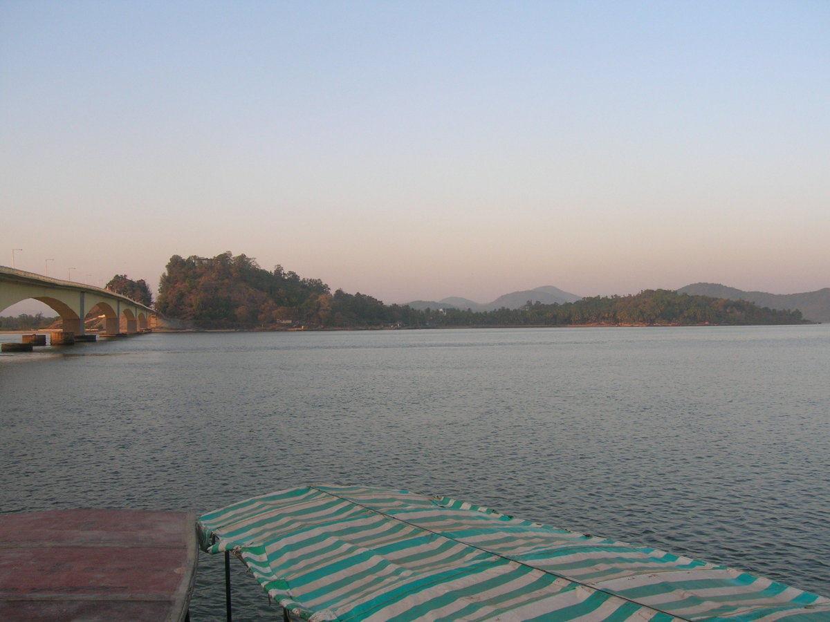 First glimpse of the island from Karwar Jetty