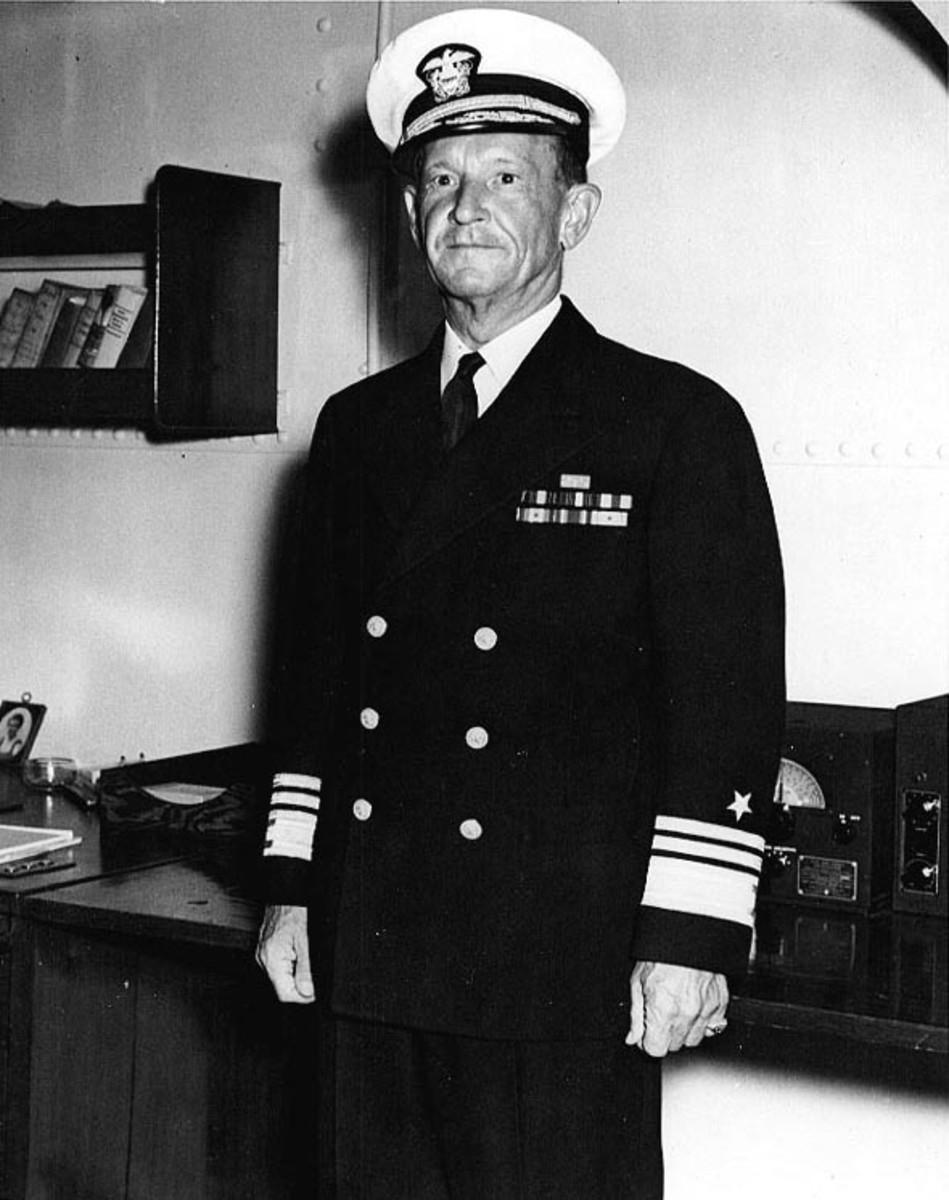 Admiral Frank Jack Fletcher in September 1942. Fletcher would lead Task Force 17 aboard the aircraft carrier Yorktown.