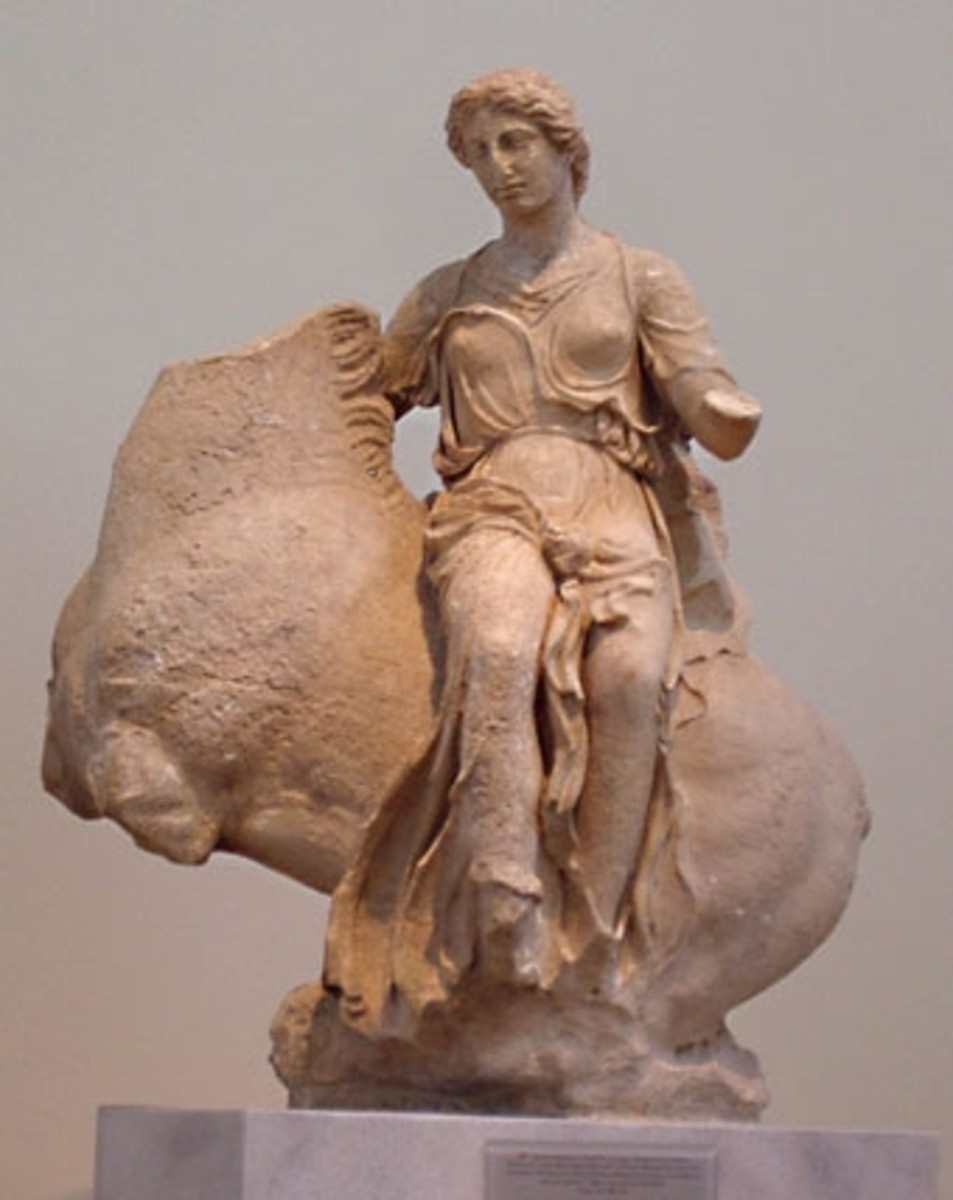 Yes, you've seen her before, since she's now in the National Archaeological Museum in Athens. This personification of a breeze (like Zephyr, only female) once adorned the roof of the temple of Asclepius.
