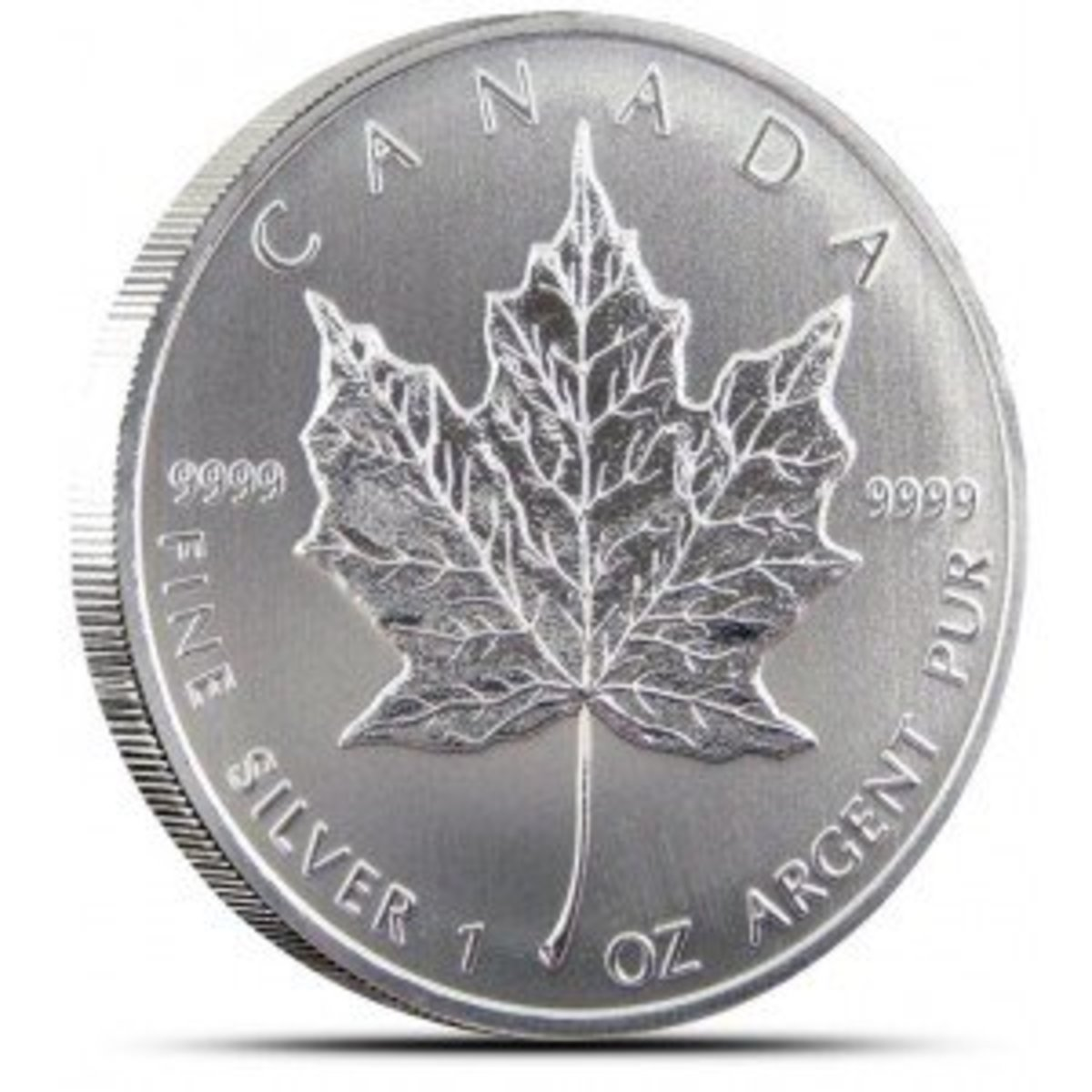 Silver Maple Leaf from Canada that is 99.99% silver