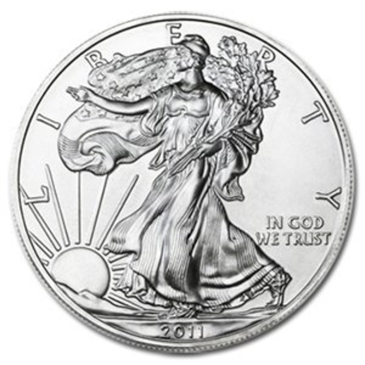 Silver Eagle coin that is 99.9% silver.