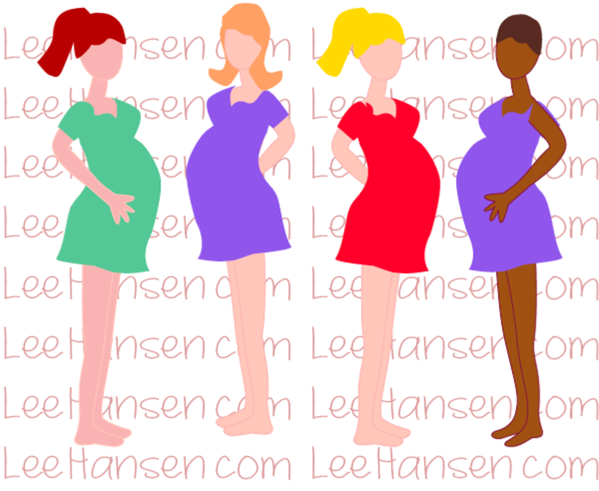 Pregnant Moms Clip Art by Lee Hansen