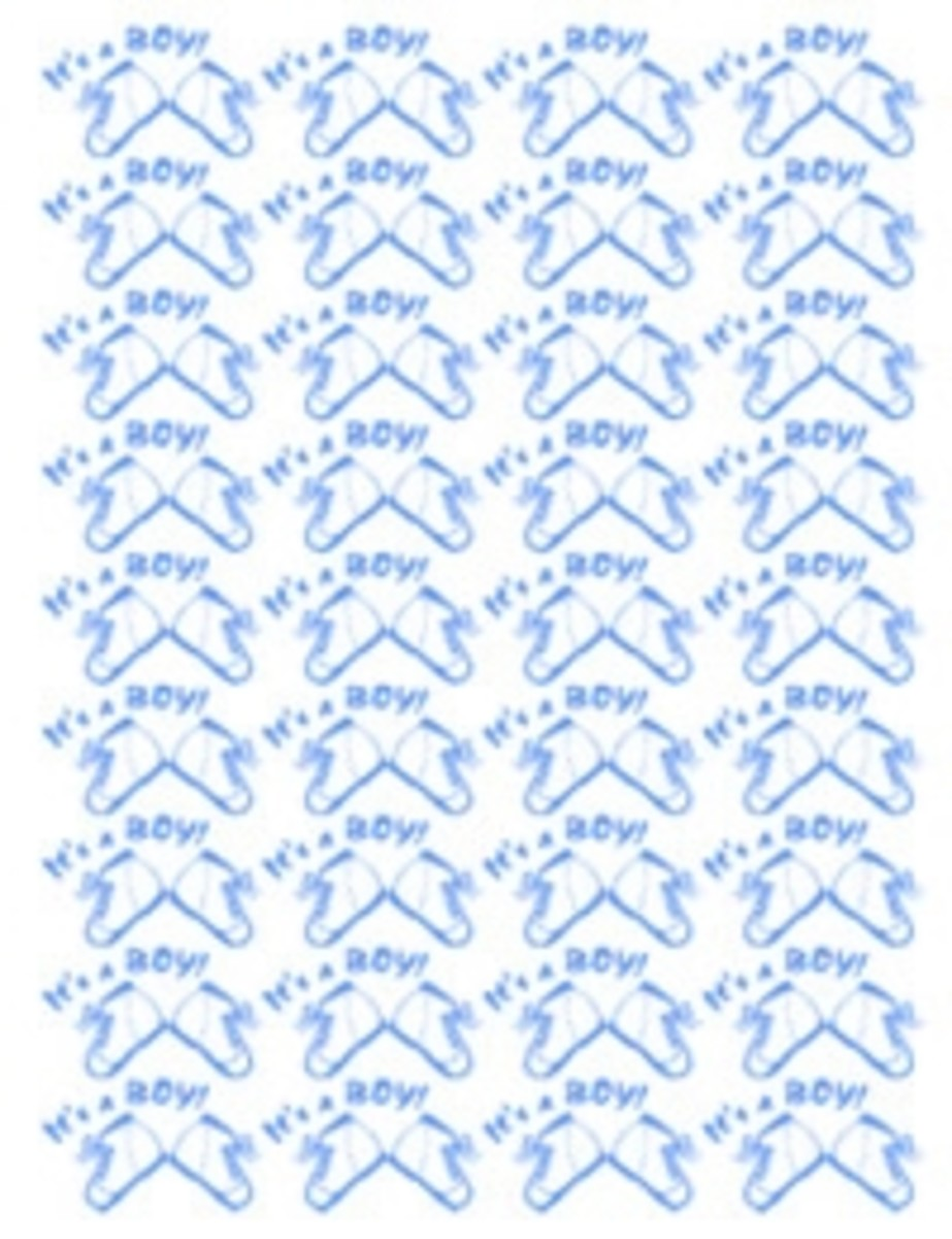 Its a boy baby clip art background paper