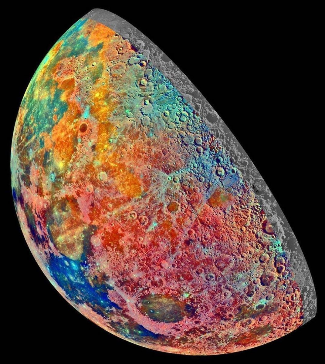Galileo spacecraft took this false-color mosaic