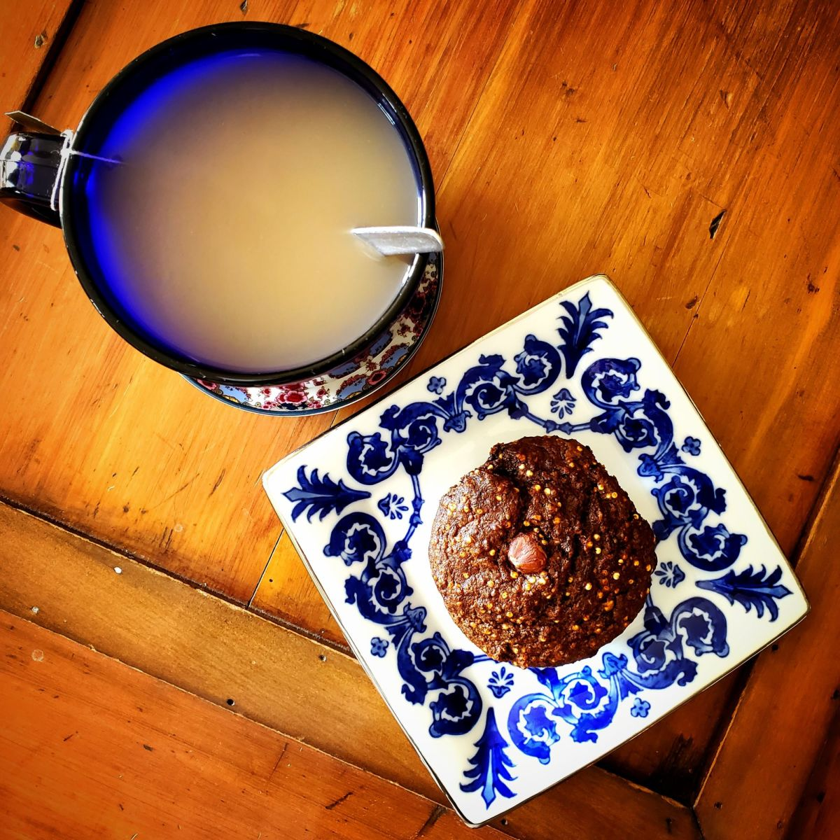 Everyone craves a little sweetness. These muffins are perfect! Just a little sweetness and lots of nutrition.  But most importantly, they stop the craving monster in its tracks! And they are oh-so-good with some coffee.