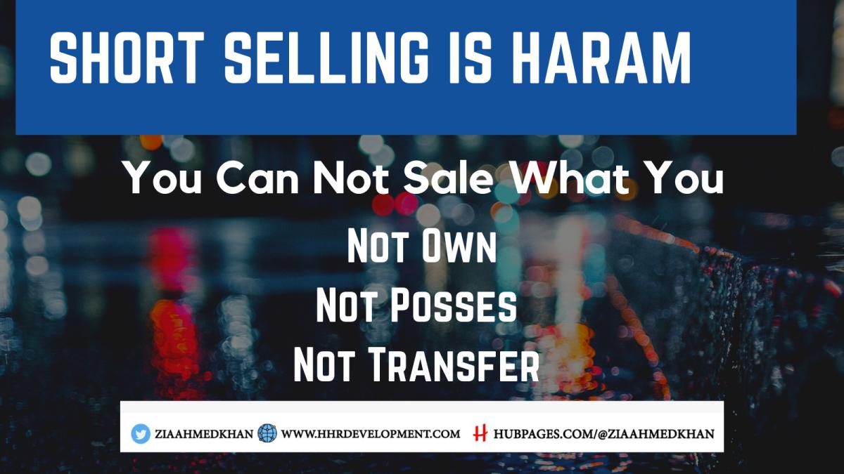 Short Selling is Haram