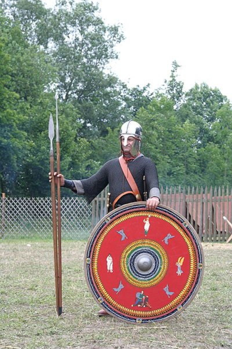 A roman soldier of 3rd Century AD