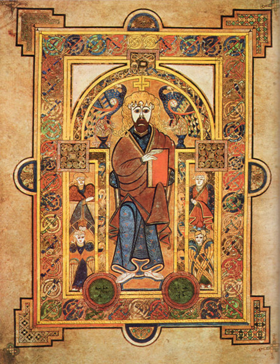 Book of Kells -one of the most famous art work of early middle ages