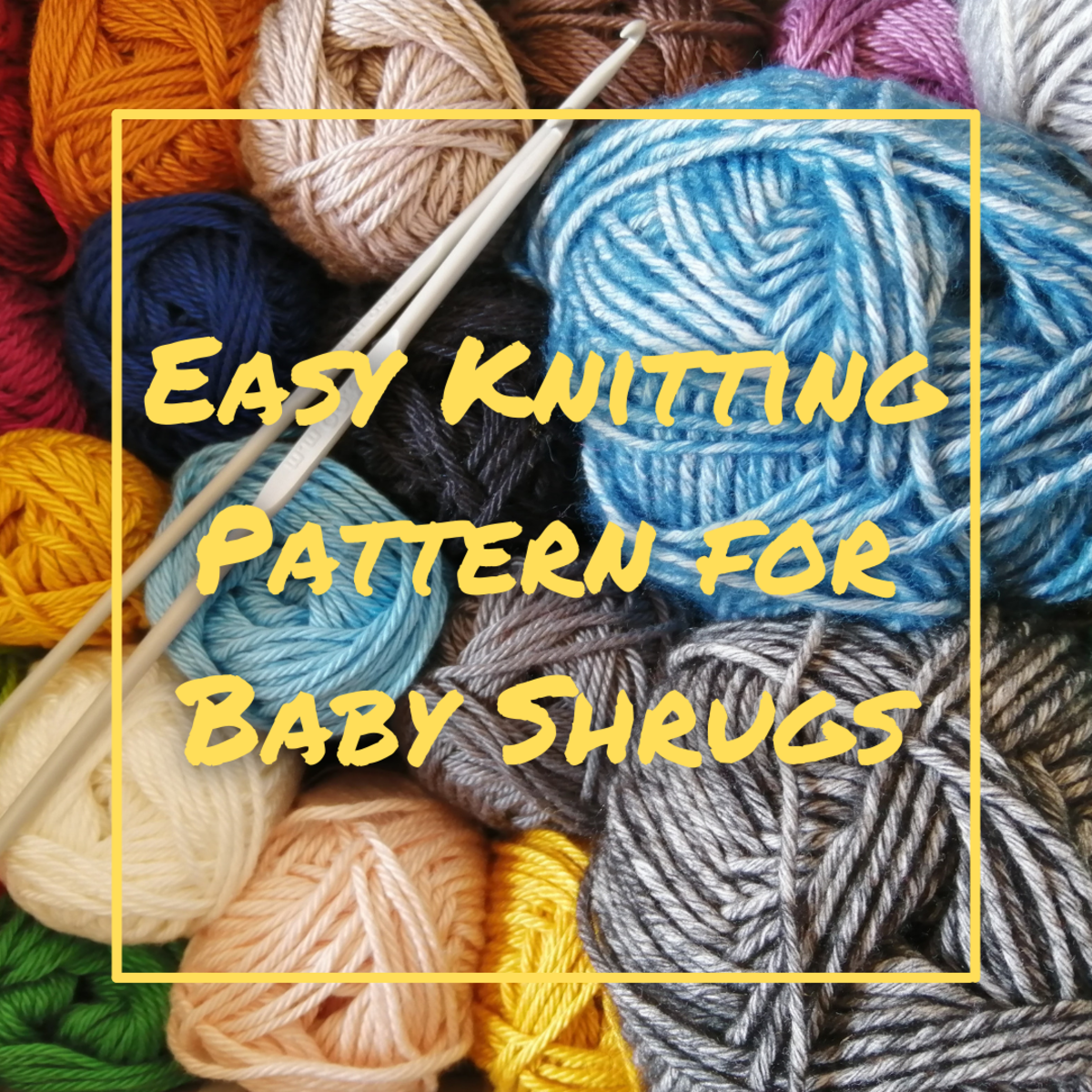 Learn how to knit an easy and cute baby shrug following the simple instructions in this guide!