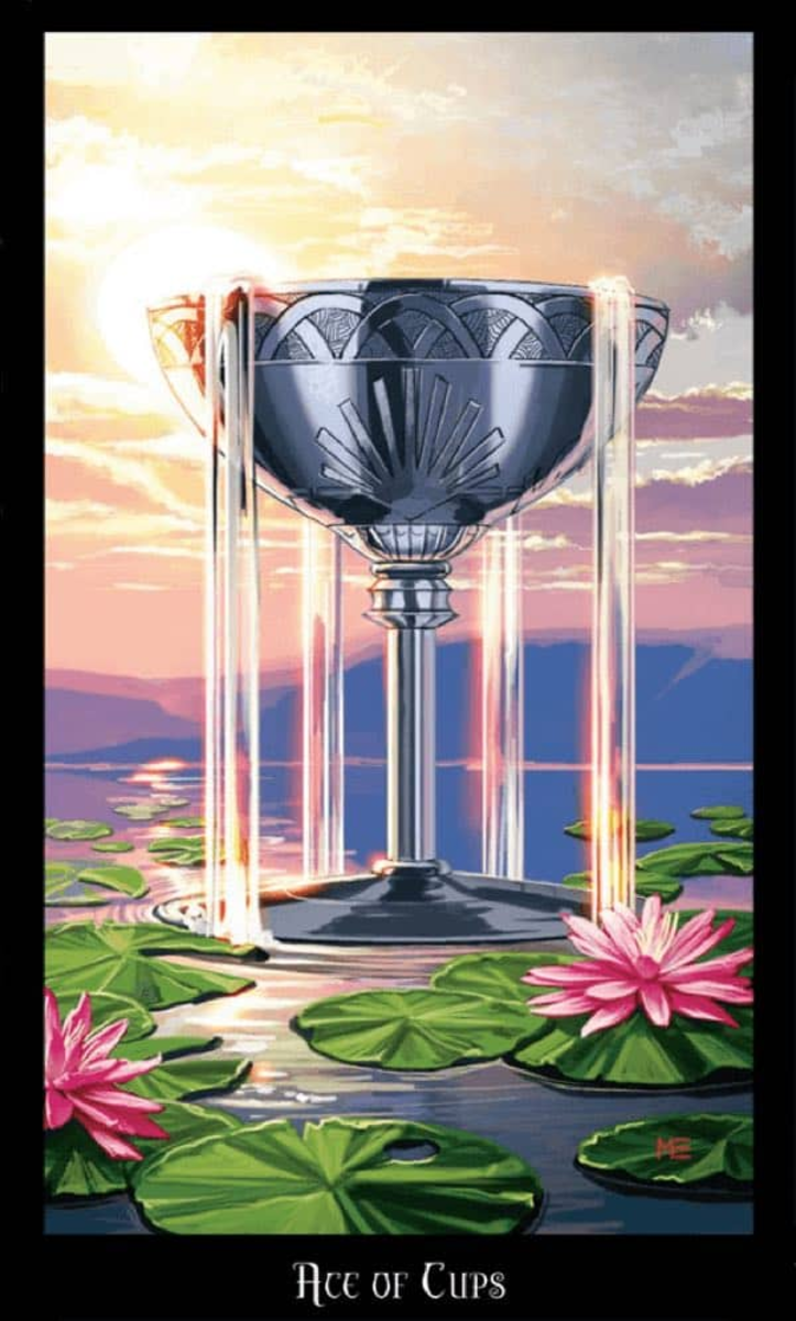 You need water to live. You cannot stay thirsty forever. The Suit of Cups reminds us what is essential for life. Remember: all our lives trace back to the ocean.