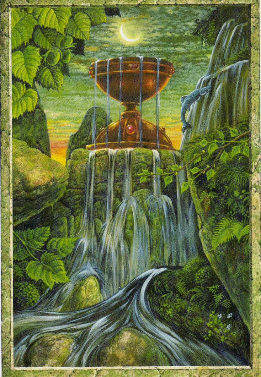 The Ace of Cups is like a seed. It is the initial attraction you feel for someone. It is the initial seed of love, and not necessarily in a romantic way, but for another person, creature, or even project.